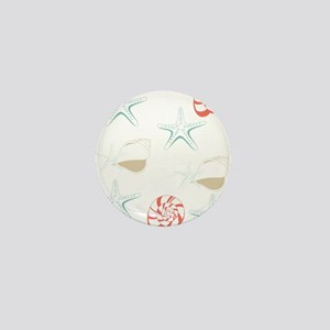Starfish Seashells Pattern Mini Button