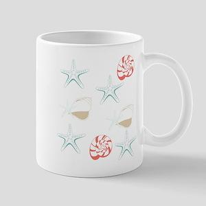 Starfish Seashells Pattern Mugs