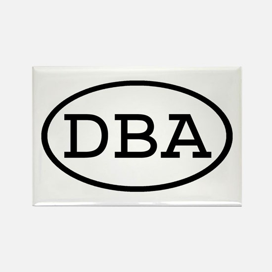 DBA Oval Rectangle Magnet