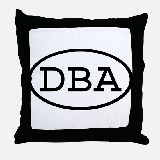 DBA Oval Throw Pillow