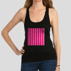 Hot Pink Bold Stripes Racerback Tank Top