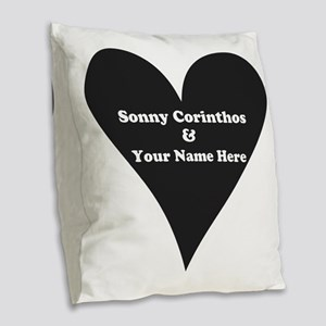 Sonny Corinthos and Your Name Burlap Throw Pillow