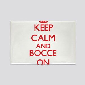 Keep calm and Bocce ON Magnets