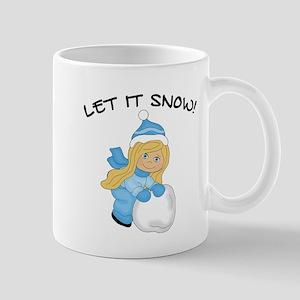 Let It Snow - Blonde Hair Blue Eyes Mugs