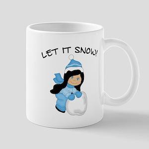 Let It Snow - Black Hair Blue Eyes Mugs