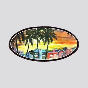 South Beach Neon Sunset Patches
