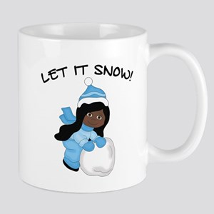 Let It Snow - Black Hair Brown Eyes Mugs