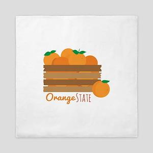 Orange State Queen Duvet