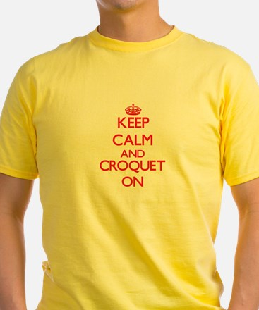 Keep calm and Croquet ON T-Shirt