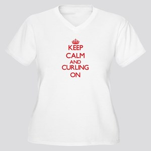 Keep calm and Curling ON Plus Size T-Shirt