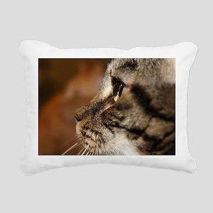 Kitty cat profile Rectangular Canvas Pillow