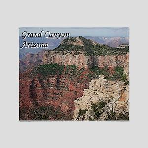 Grand Canyon, Arizona (with caption) Throw Blanket