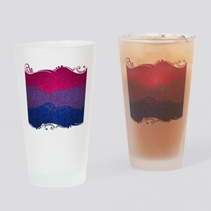 Bisexual Ornamental Flag Drinking Glass
