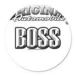 original boss Round Car Magnet