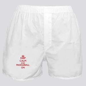 Keep calm and Paddleball ON Boxer Shorts