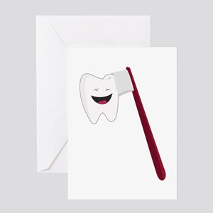 Brush Teeth Greeting Cards