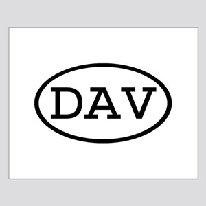 DAV Oval Small Poster