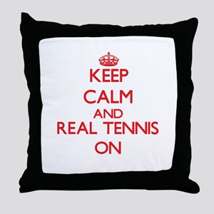 Keep calm and Real Tennis ON Throw Pillow