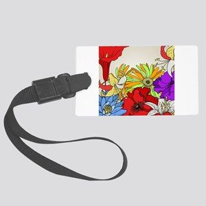 Flower Garden Large Luggage Tag