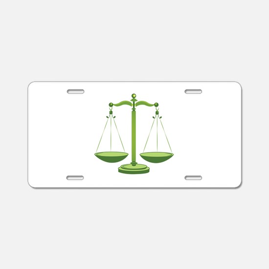 Scales Aluminum License Plate