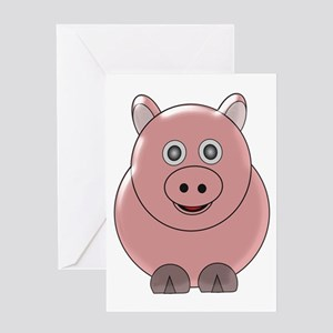 Pig3 Greeting Cards