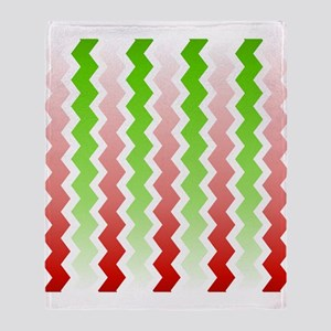 Red-Green Chevrons Throw Blanket