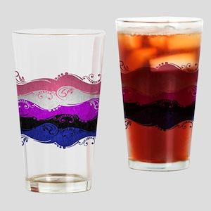 Gender Fluid Ornamental Flag Drinking Glass
