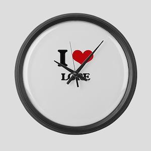 I Love Lore Large Wall Clock
