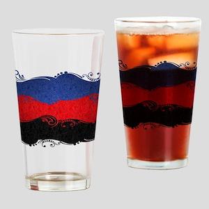 Polyamorous Ornamental Flag Drinking Glass