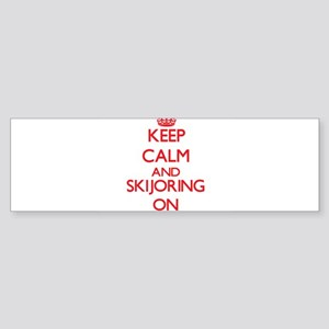 Keep calm and Skijoring ON Bumper Sticker
