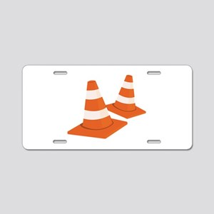 Safety Cones Aluminum License Plate