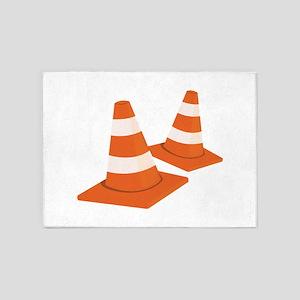 Safety Cones 5'x7'Area Rug