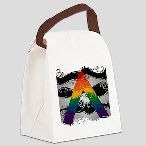 LGBT Ally Ornamental Flag Canvas Lunch Bag