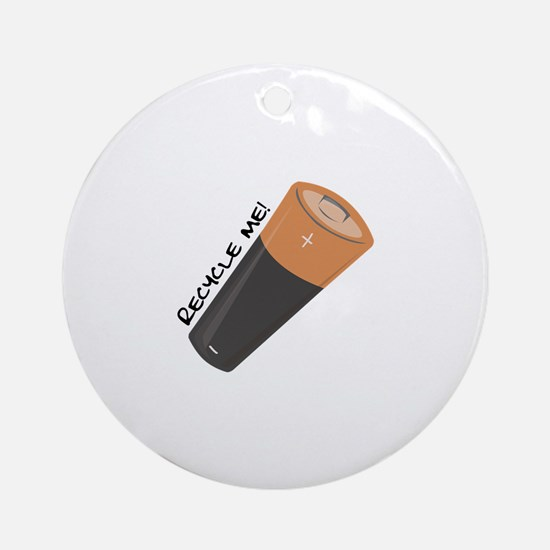 Recycle Me Ornament (Round)