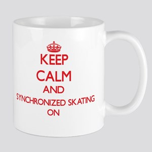 Keep calm and Synchronized Skating ON Mugs