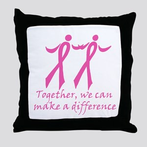 Make a Difference Together Throw Pillow