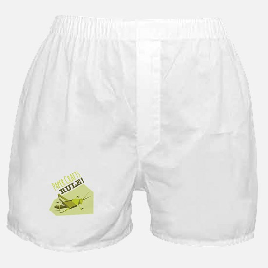 Paper Crafts Rule Boxer Shorts
