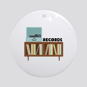 Records Ornament (Round)