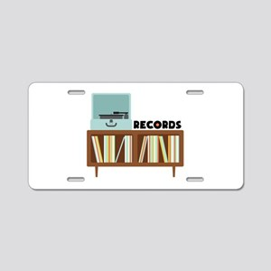 Records Aluminum License Plate