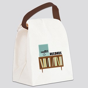 Records Canvas Lunch Bag