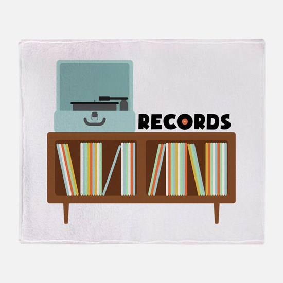 Records Throw Blanket