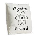Physics Wizard Burlap Throw Pillow