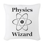 Physics Wizard Woven Throw Pillow