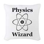 Physics Wizard Woven Throw Pillow