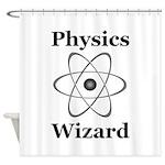 Physics Wizard Shower Curtain