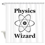 Physics Wizard Shower Curtain