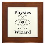 Physics Wizard Framed Tile