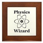 Physics Wizard Framed Tile