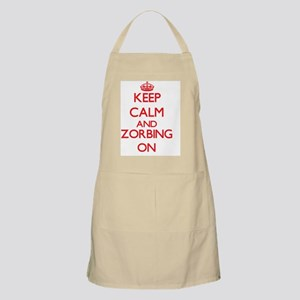 Keep calm and Zorbing ON Apron