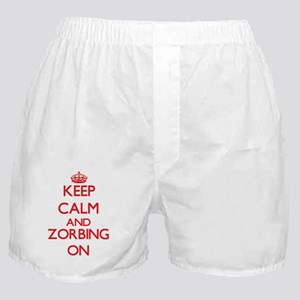 Keep calm and Zorbing ON Boxer Shorts